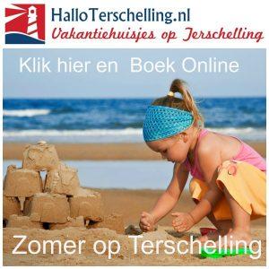 zomervakantie boeken 2017 Hallo Terschelling
