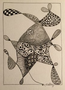 zentangle workshop Cathy van Nes - Hallo Terschelling