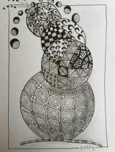 zentangle workshop Cathy van Nes cirkels | Hallo Terschelling