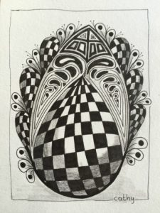 zentangle-workshop-paasei-Cathy van Nes Hallo Terschelling
