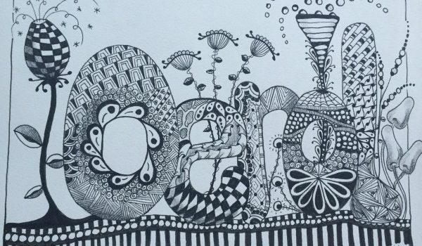 zentangle workshop oerol Cathy van Nes Hallo Terschelling
